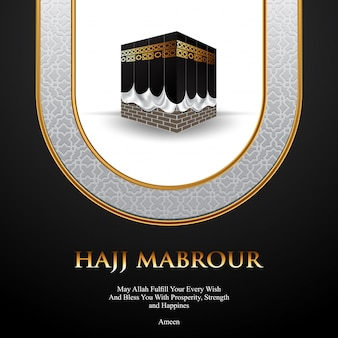 Islamic pilgrimage hajj background illustration