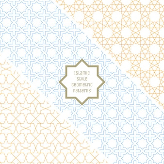 Islamic Style Seamless Geometric Patterns Collection