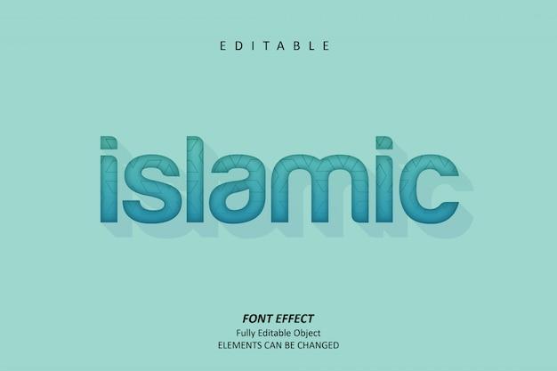 Islamic text effect