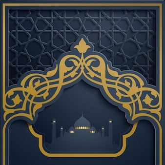 Islamic vector design for greeting card