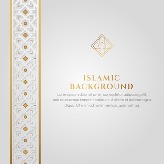 Islamic white and golden background