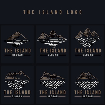The island line logo vector illustration