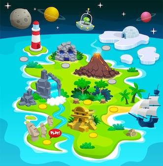 게임용 섬 지도