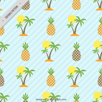 Island and pineapple pattern