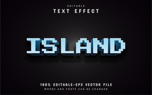 島のピクセルテキスト効果
