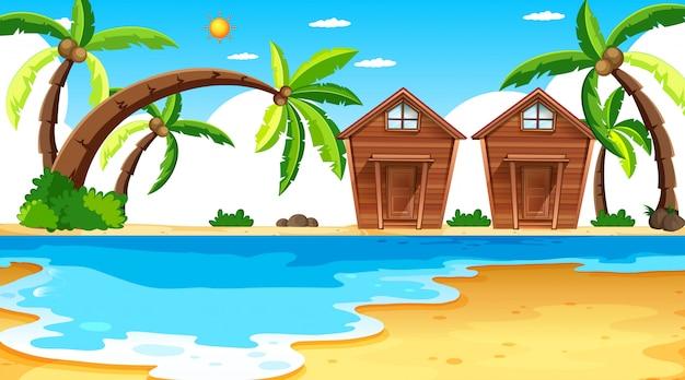 Island scene with bangalows