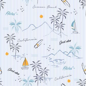 Island seamless pattern
