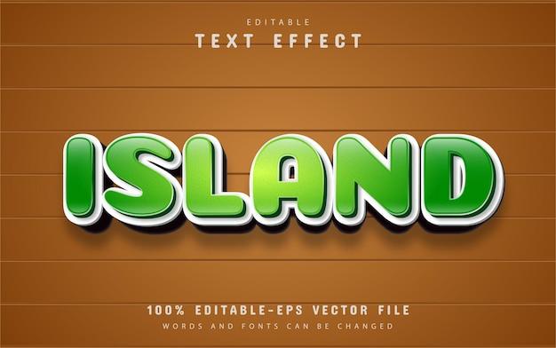 Island text cartoon style
