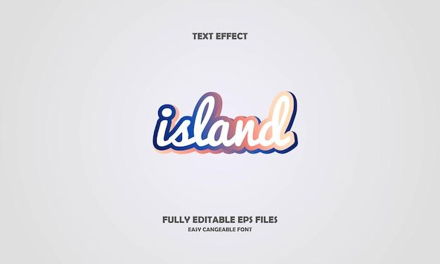 島のテキスト効果