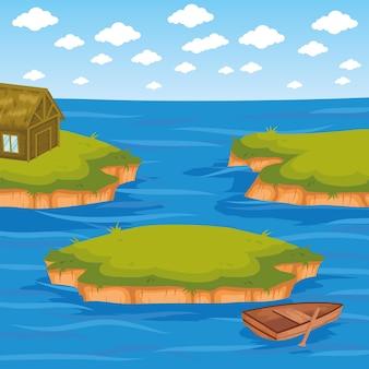 섬 바다 풍경