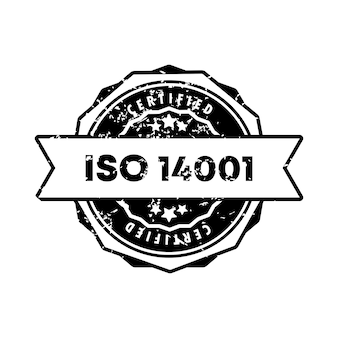 Iso 14001 stamp. vector. iso 14001 badge icon. certified badge logo. stamp template. label, sticker, icons. vector eps 10. isolated on white background.