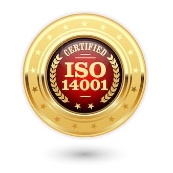 Iso 14001 standard certified medal