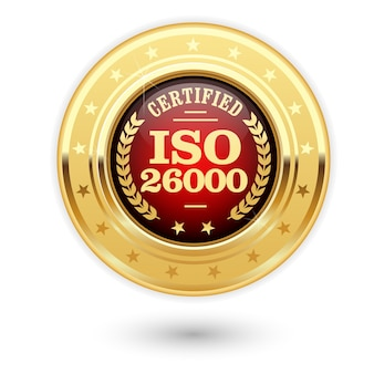 Iso26000認定メダル-社会的責任