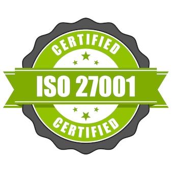Iso 27001 표준 인증서 배지-정보 보안 관리