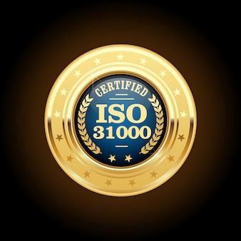 Iso 31000 standard medal - risk management