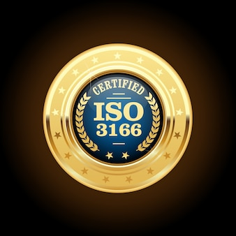 Iso 3166  standard medal - country codes