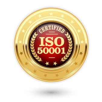 Iso 50001 certified medal - energy management