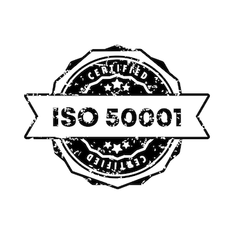 Iso 50001 스탬프입니다. 벡터. iso 50001 배지 아이콘입니다. 인증 배지 로고. 스탬프 템플릿. 레이블, 스티커, 아이콘입니다. 벡터 eps 10입니다. 흰색 배경에 고립.