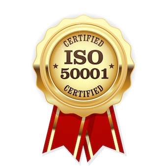 Iso 50001 standard certified medal