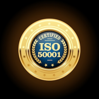 Iso 50001 standard medal - energy management