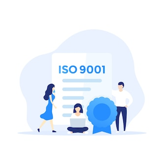 Iso 9001 certificate and people,
