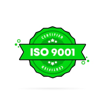Iso 9001 stamp. vector. iso 9001 badge icon. certified badge logo. stamp template. label, sticker, icons. vector eps 10. isolated on white background.