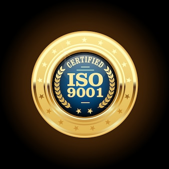 Iso 9001 standard certified medal
