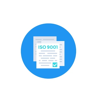 Iso 9001 standard icon