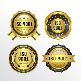 Коллекция значков сертификации iso