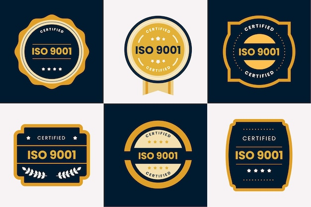 Iso certification badge collection