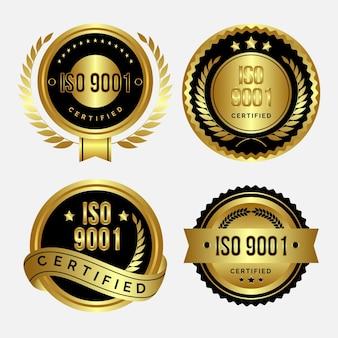 Набор значков сертификации iso