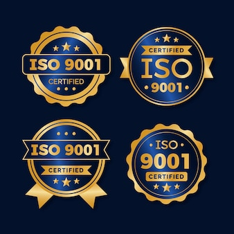 Iso certification badge set