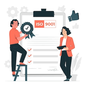 Iso certification concept illustration