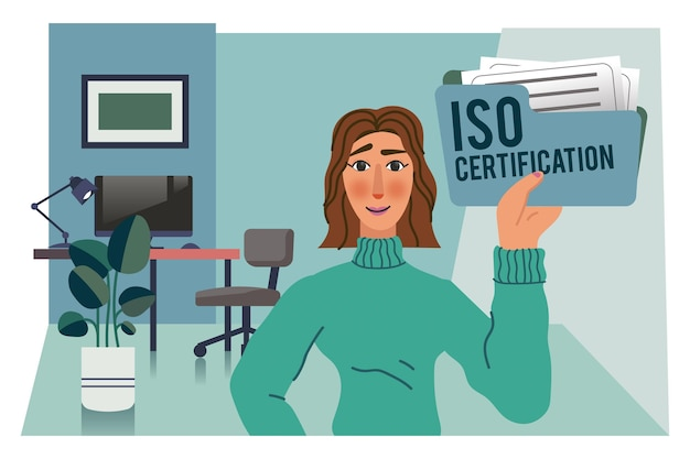 Iso certification concept