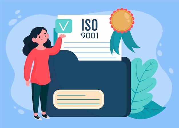 Iso certification illustration