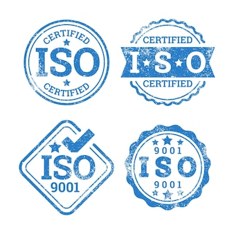 Iso certification stamp collection