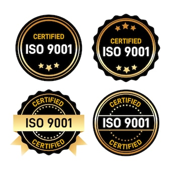 Iso certification stamp set