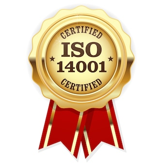 Iso certified - quality standard golden seal, environmental management