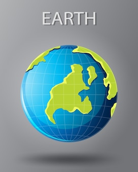 An isoalted earth icon
