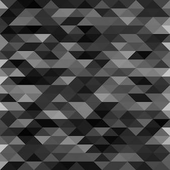 孤立した抽象的な黒lowpolyデザインの背景。