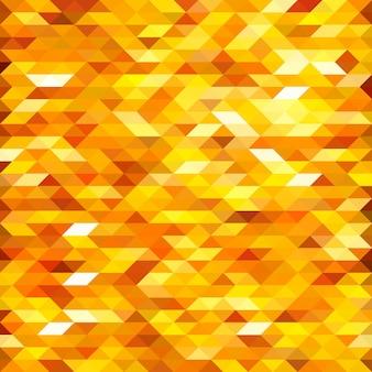 孤立した抽象的な黄金のlowpolyデザインの背景。