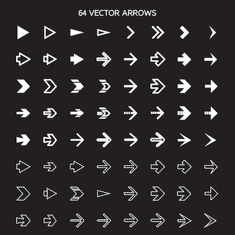 Isolated arrows set, undo and previous buttons.