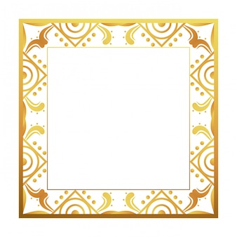 Isolated art deco frame