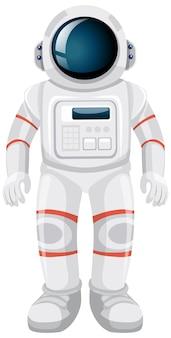 Изолированные космонавт мультфильм на белом фоне