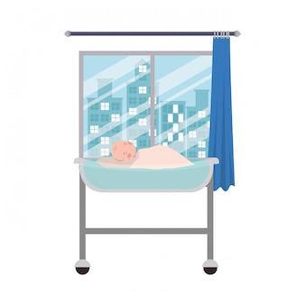 Isolated baby boy illustration