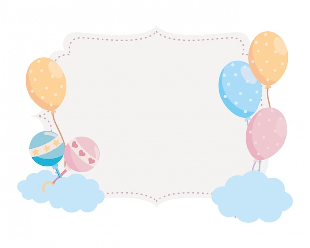 Isolated baby shower symbol