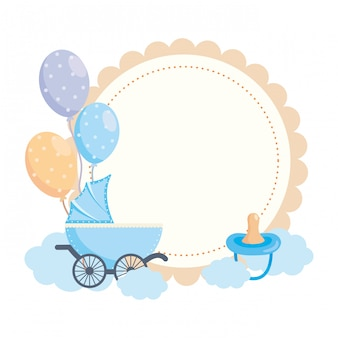 Isolated baby shower symbol