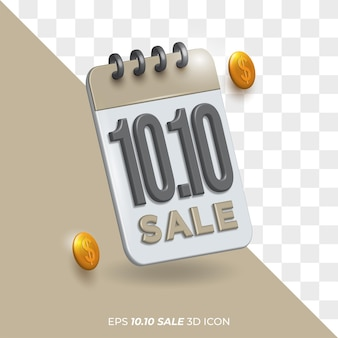 Isolated background transparent 10.10 template icon