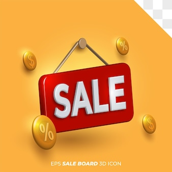 Isolated background transparent sale board template icon