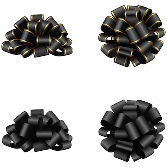 Isolated black bows